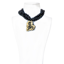 COLLAR CRYSTALLUS NEGRO