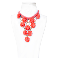 COLLAR CLAUDE MONET CORAIL